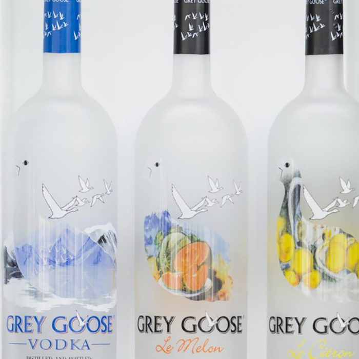 bottles of Grey Goose vodka