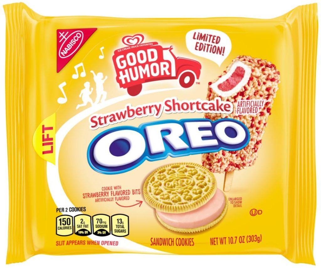 Packaging of strawberry shortcake Oreo