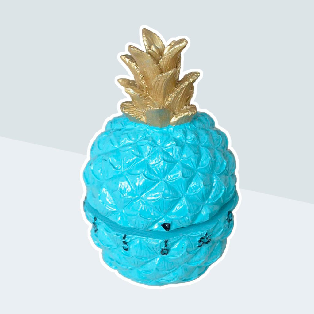 GIFTME 5 Turquoise Pineapple Kitchen Timer Blue Pineapple Perfect Gifts for Family or Friend Home Decor