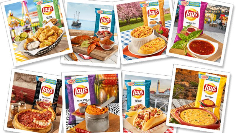 all of the new Lay's flavors of America potato chips