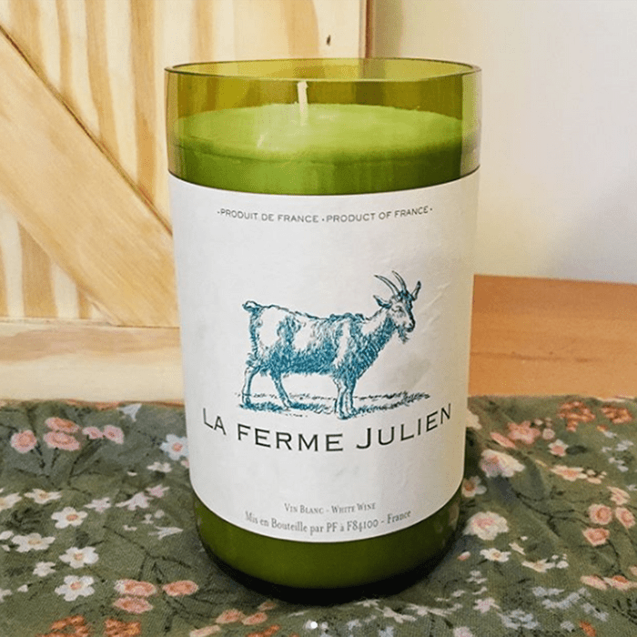 Recycled wine candle