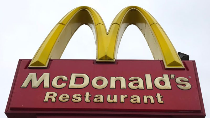 Exterior shot of a McDonald's restaurant.