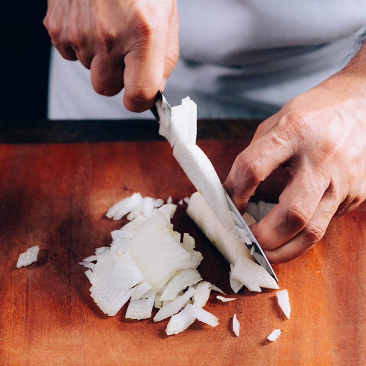 Chopping an Onion using A Knife