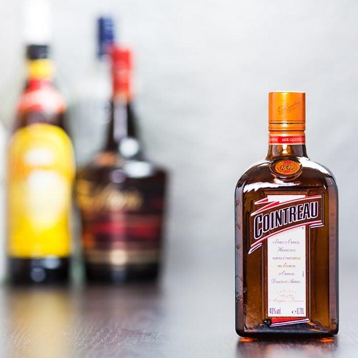 Cointreau, orange-flavoured liqueur (triple sec) produced in France.