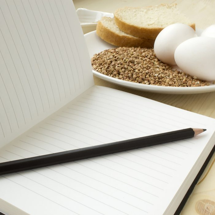 Diet diary - keep a record of what you eat in a journal