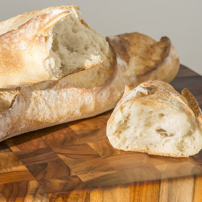 Italian Bread Loaves on Cutting Board