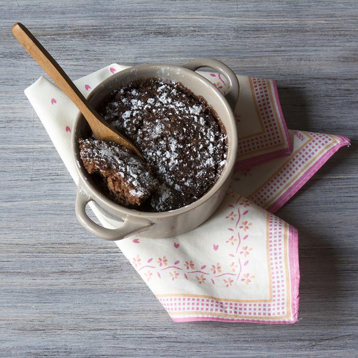 brownie on a mug