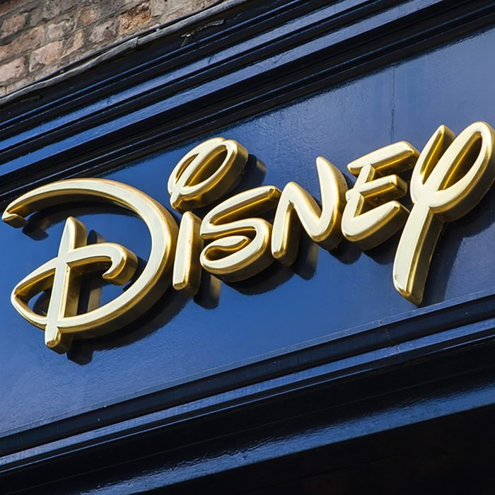 The sign for a Disney retail store in York, on 26th August 2015