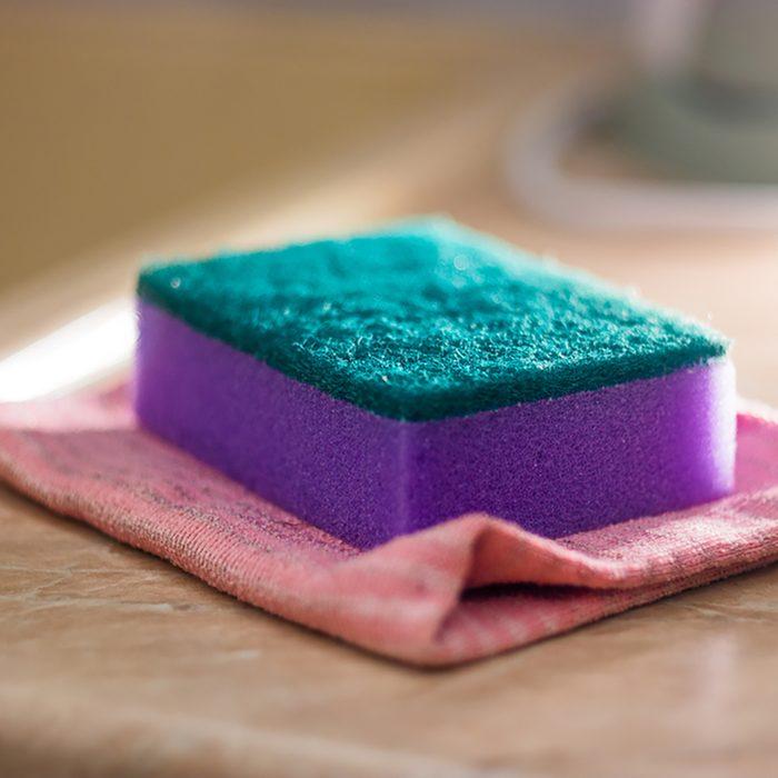 sponge for ware washing, selective focus