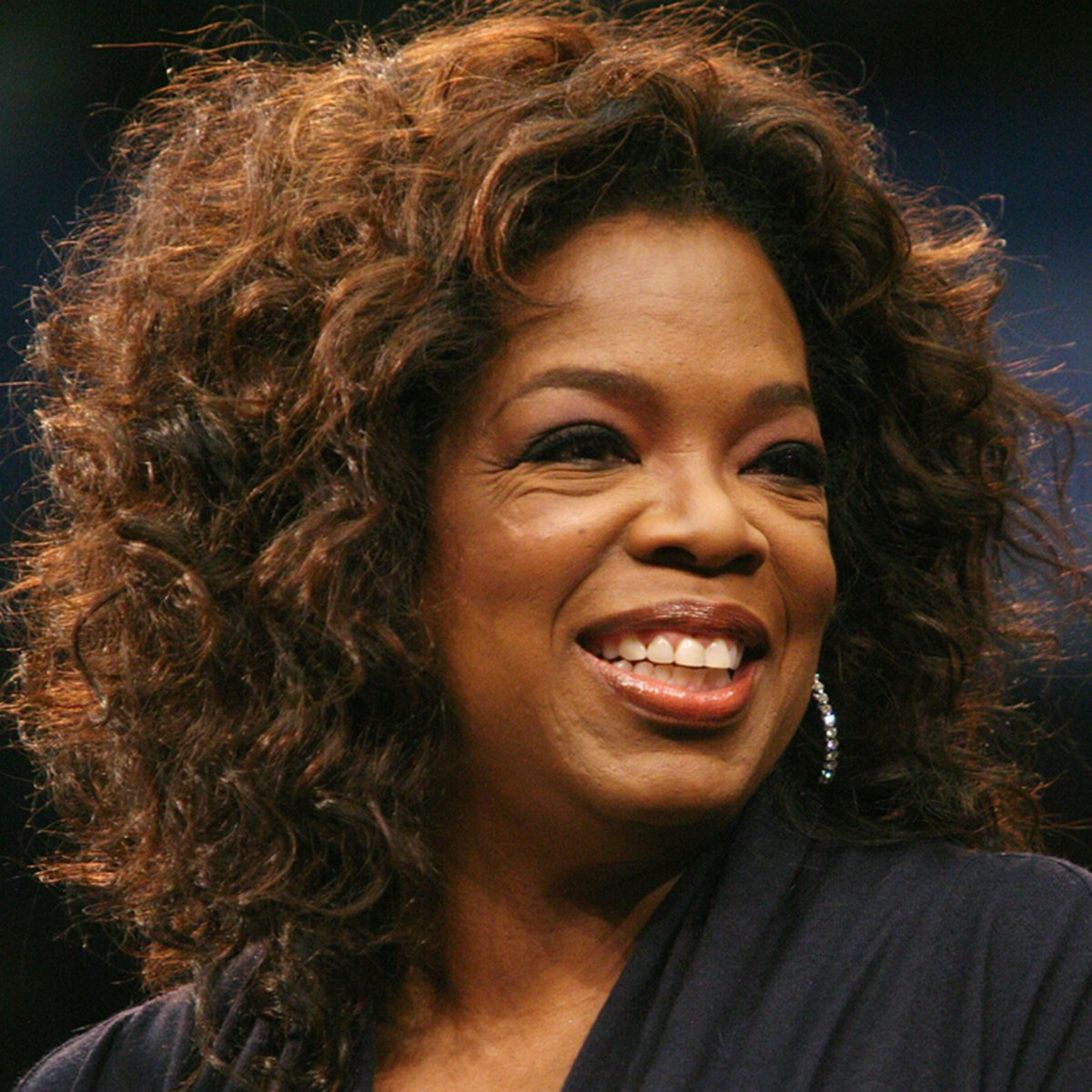 Oprah Winfrey campaigns for Democratic Presidential candidate Barack Obama at UCLA in Los Angeles, California.