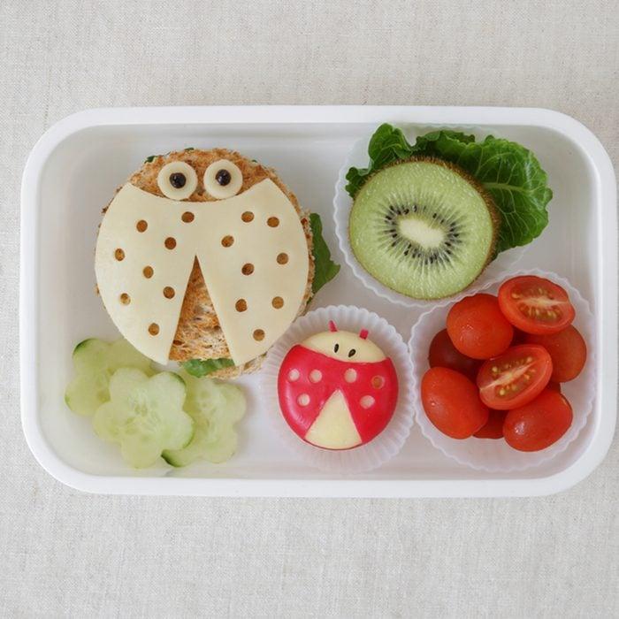 Ladybug ladybird healthy lunch box