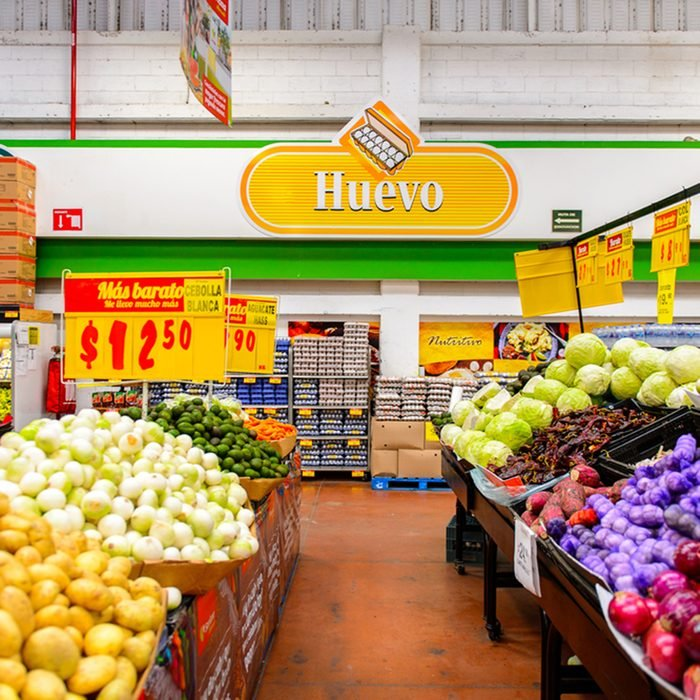 Vegetables section of the supermarket Soriana, a Mexican public company and a major retailer in Mexico