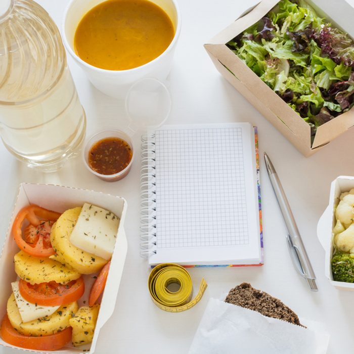 Healthy nutrition dish. Fresh daily meals delivery.