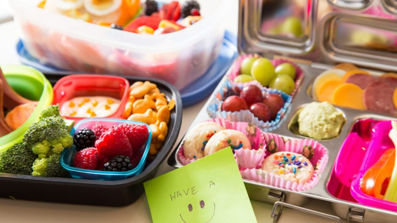 bento box ideas packed with healthy fruits, veggies and snacks