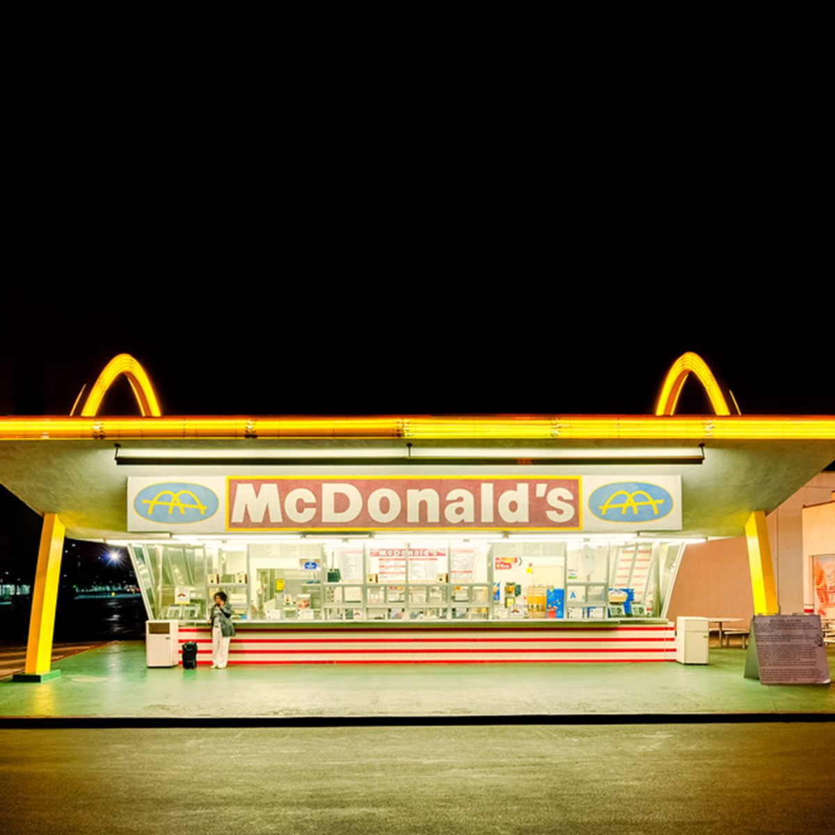 The oldest operating McDonald's restaurant in the world in Downey, Los Angeles, California