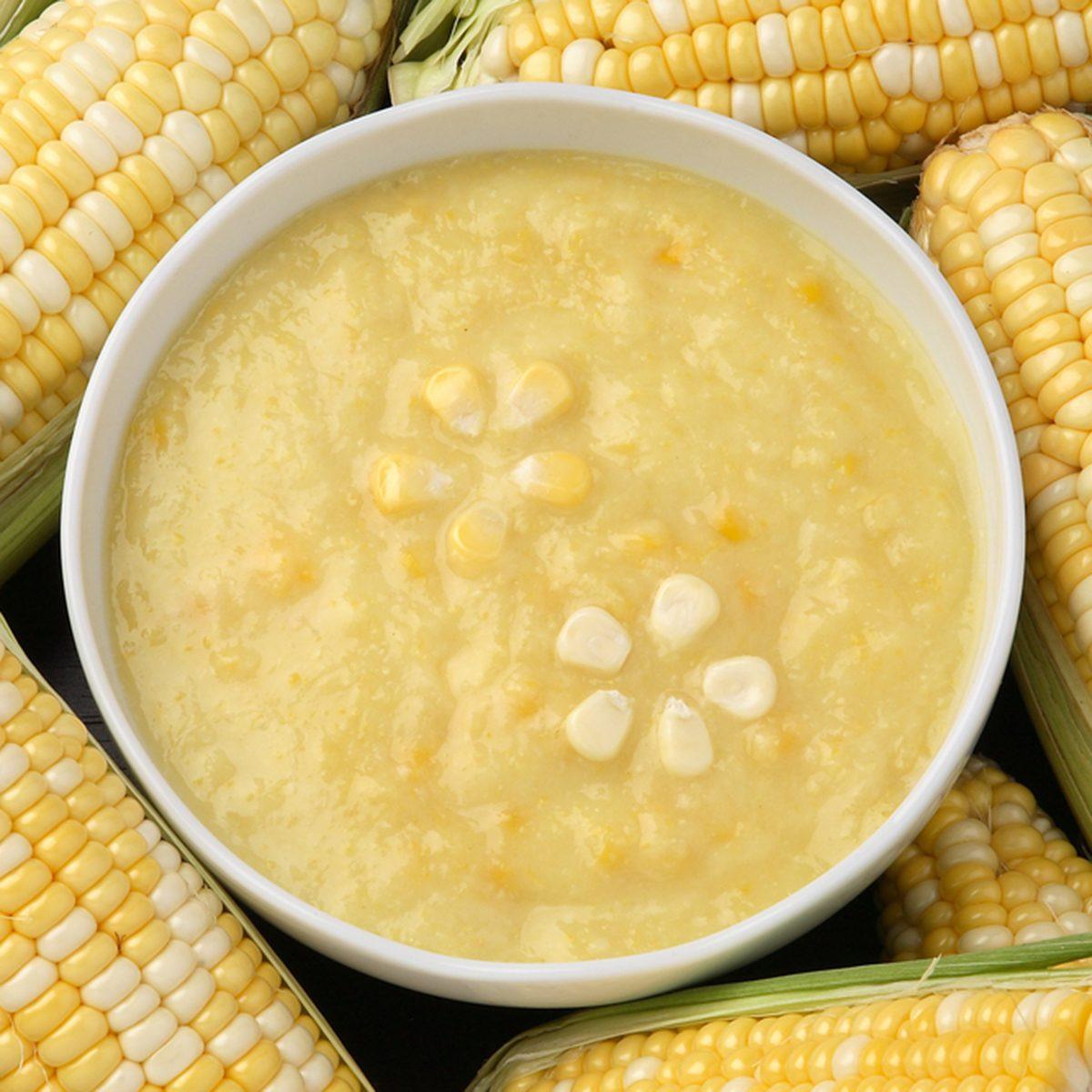 fresh corn cream soup