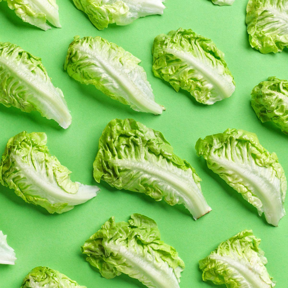 Pattern of lettuce leaves