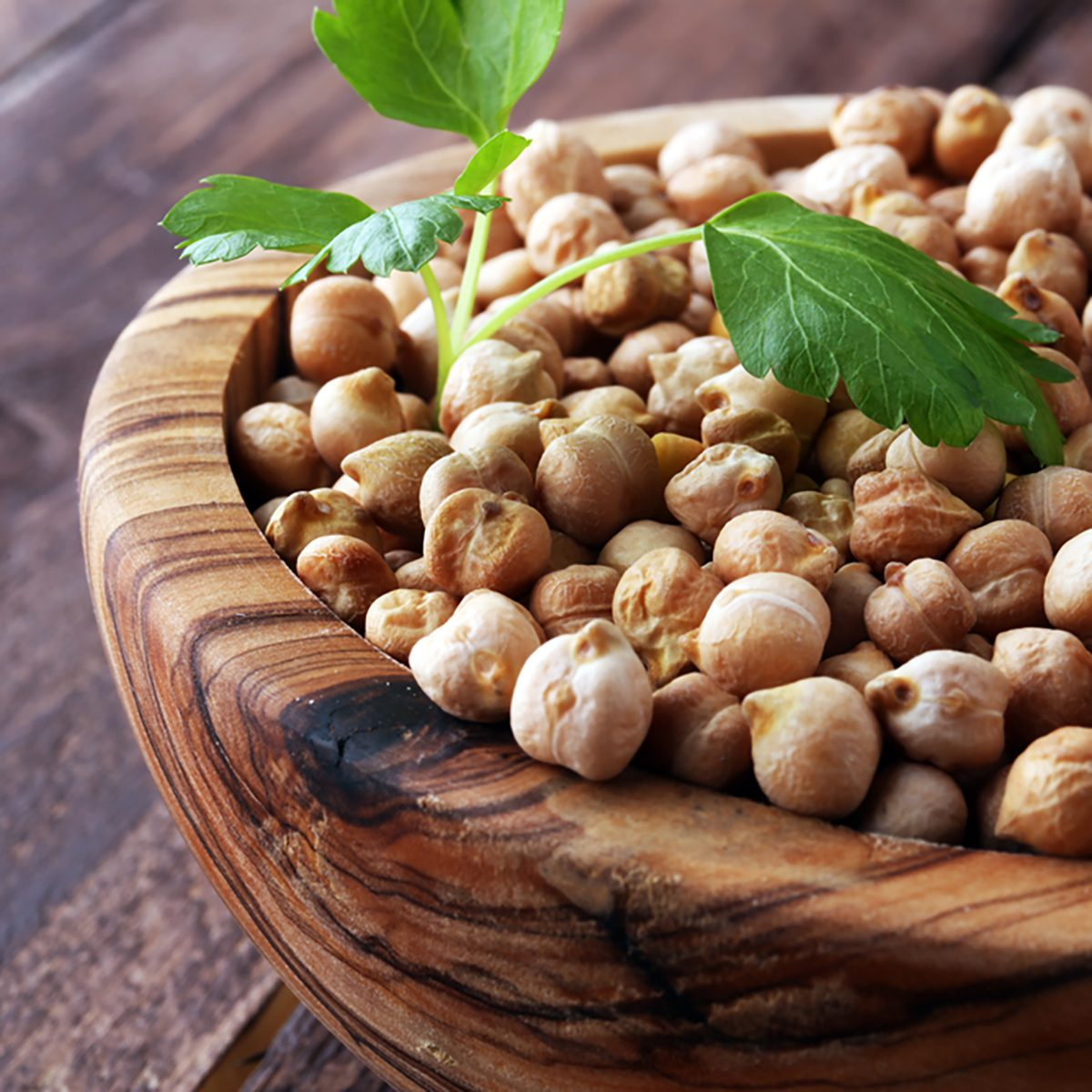 Raw Chickpeas on a bowl. Chickpeas is nutritious food.