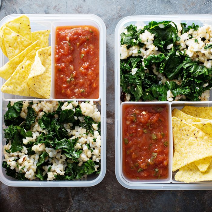 Healthy meal prep or lunch for work and school