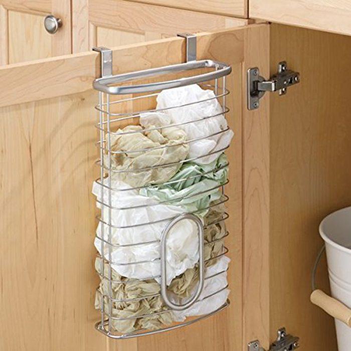 mDesign Over Cabinet Kitchen Storage Organizer Holder or Basket