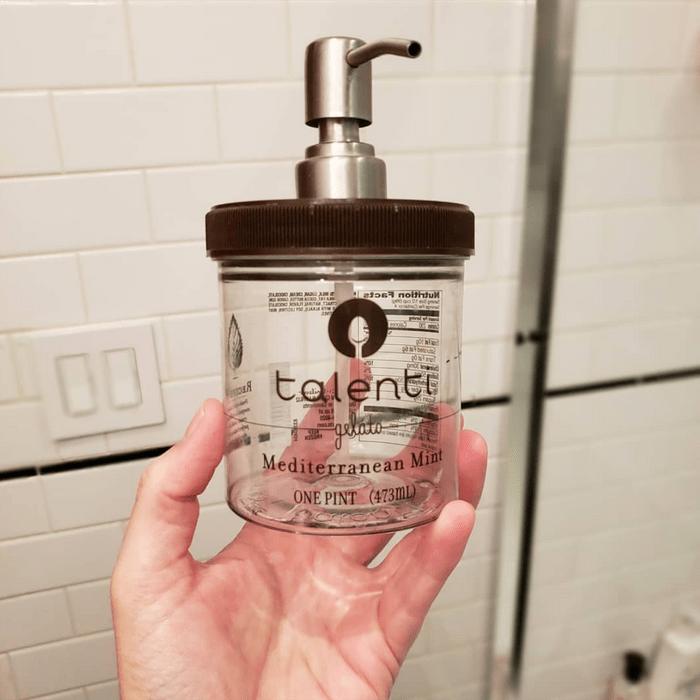 Talenti soap dispenser