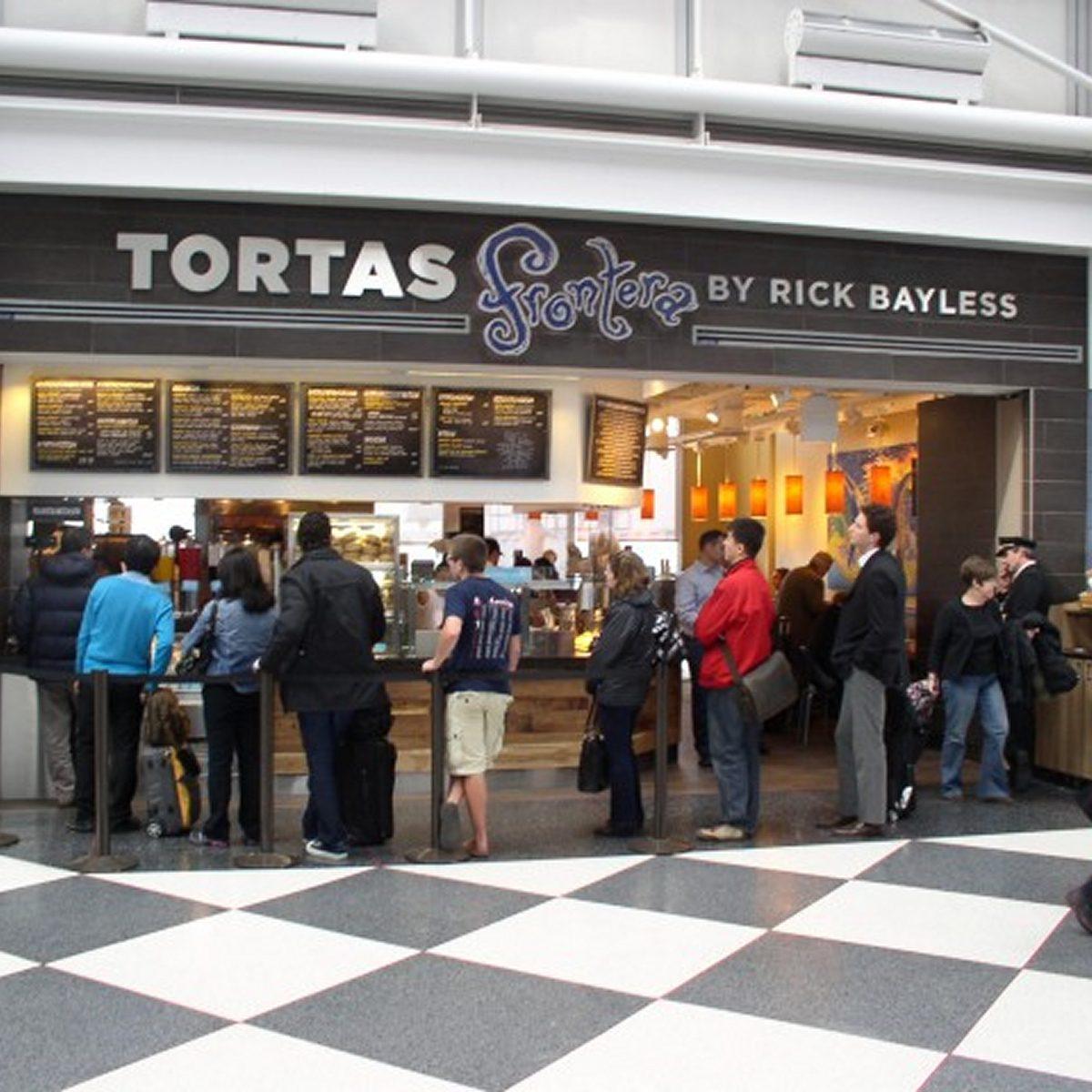 best airport restaurants Tortas Frontera