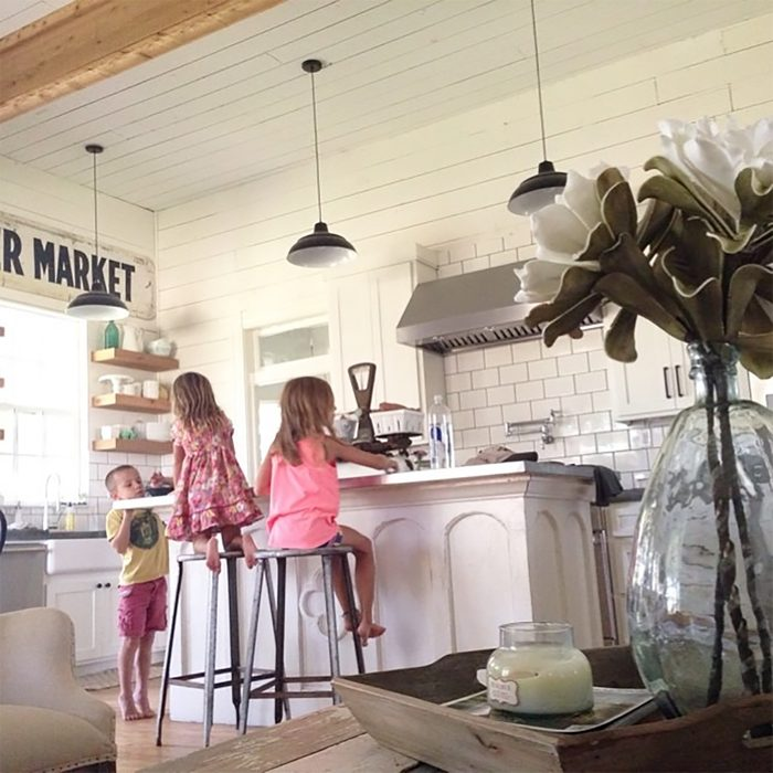 Joanna Gaines' children helping in the kitchen, farmhouse style