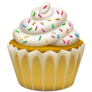 Apple cupcake emoji