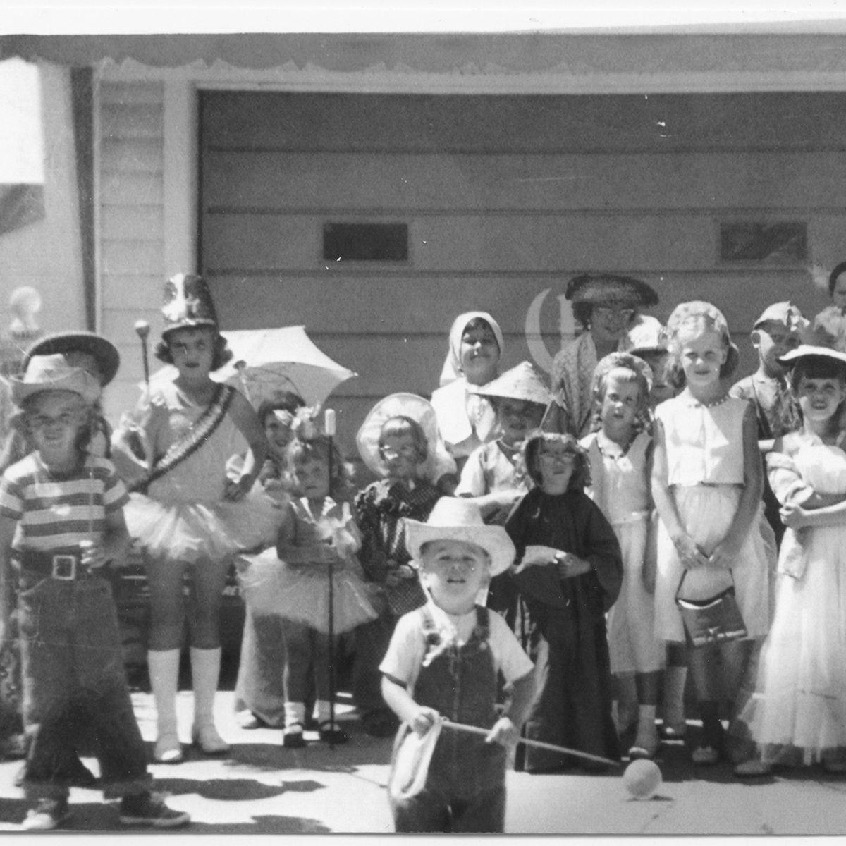 group of children for Halloween