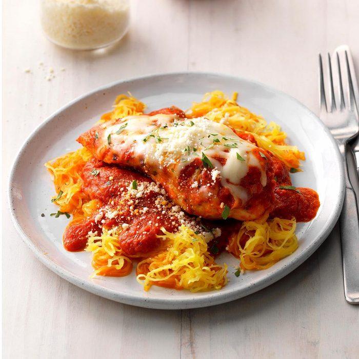 Day 30: Chicken Parmesan With Spaghetti Squash