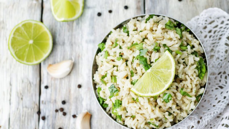 cilantro lime garlic brown rice.