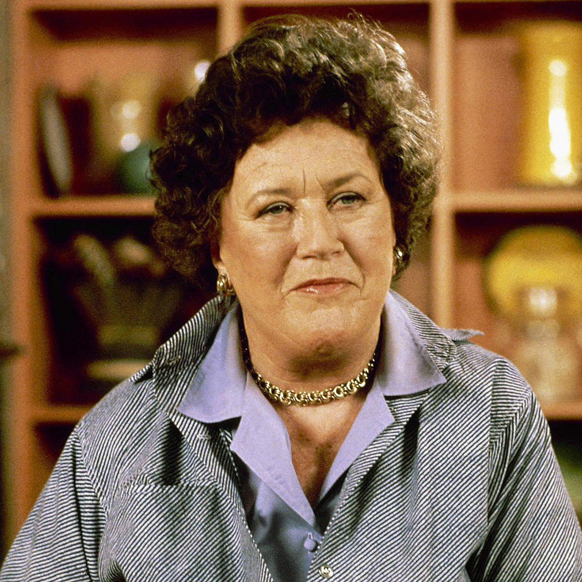Chef and cookbook author Julia Child shown in 1981