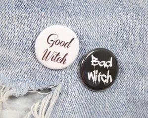 Good Witch And Bad Witch Set of Two 1.25 from ShopBroochMotel