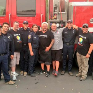 Guy Fieri and firefighters as culinary icons help in the midst of the Northern California fires