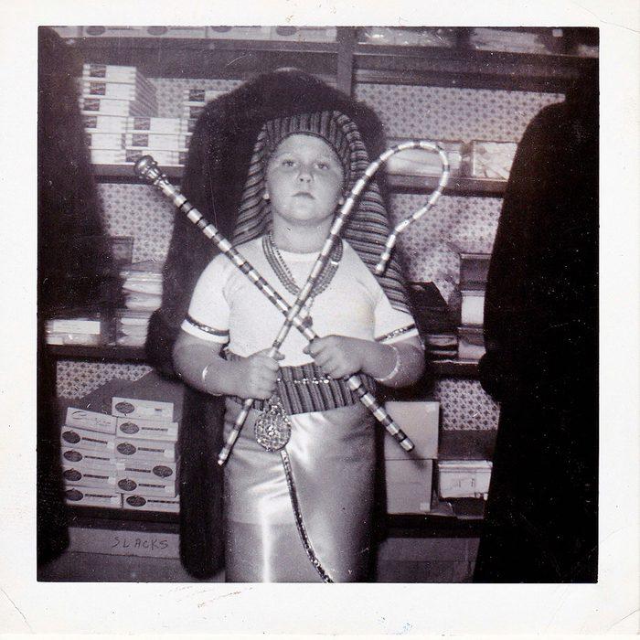 boy dressed as Egyptian pharaoh