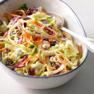 Holiday Slaw with Apple Cider Dressing