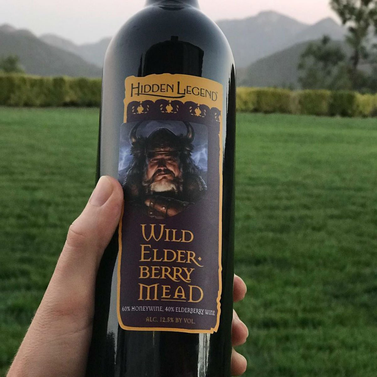 Close-up of mead at Hidden Legend Winery