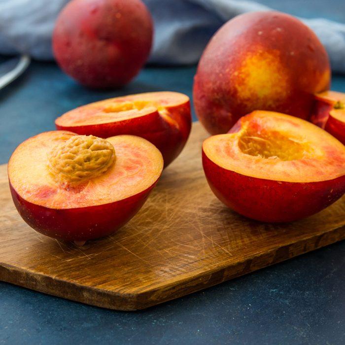 Ripe juicy nectarines