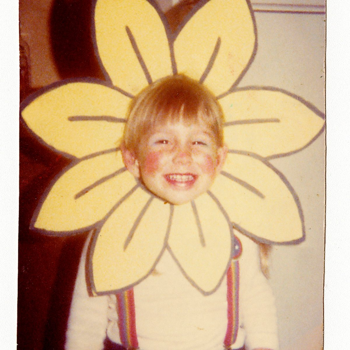 child dressed as flower for Halloween costume