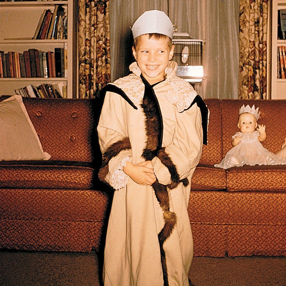 boy dressed up in costume for Halloween /REM Magazine/1997/November-December-1997_1953/1011-5859_HiRes