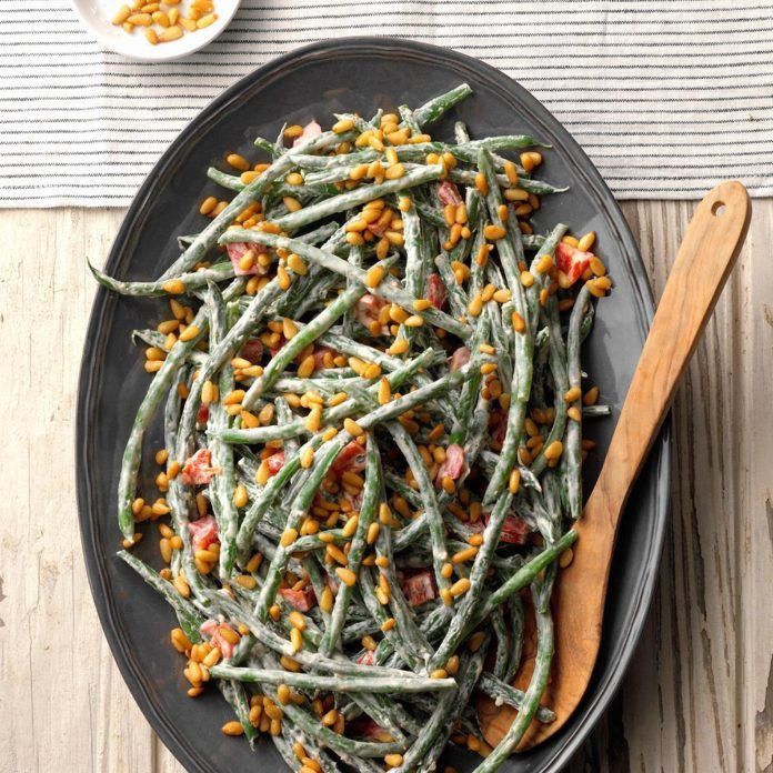 Roasted Red Pepper Green Beans