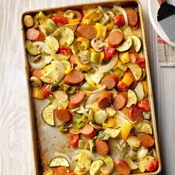 Smoked Sausage And Veggie Sheet Pan Supper Exps Sdon18 185151 B06 17 5b 6