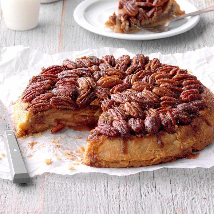 Spiced Upside-Down Apple Pie
