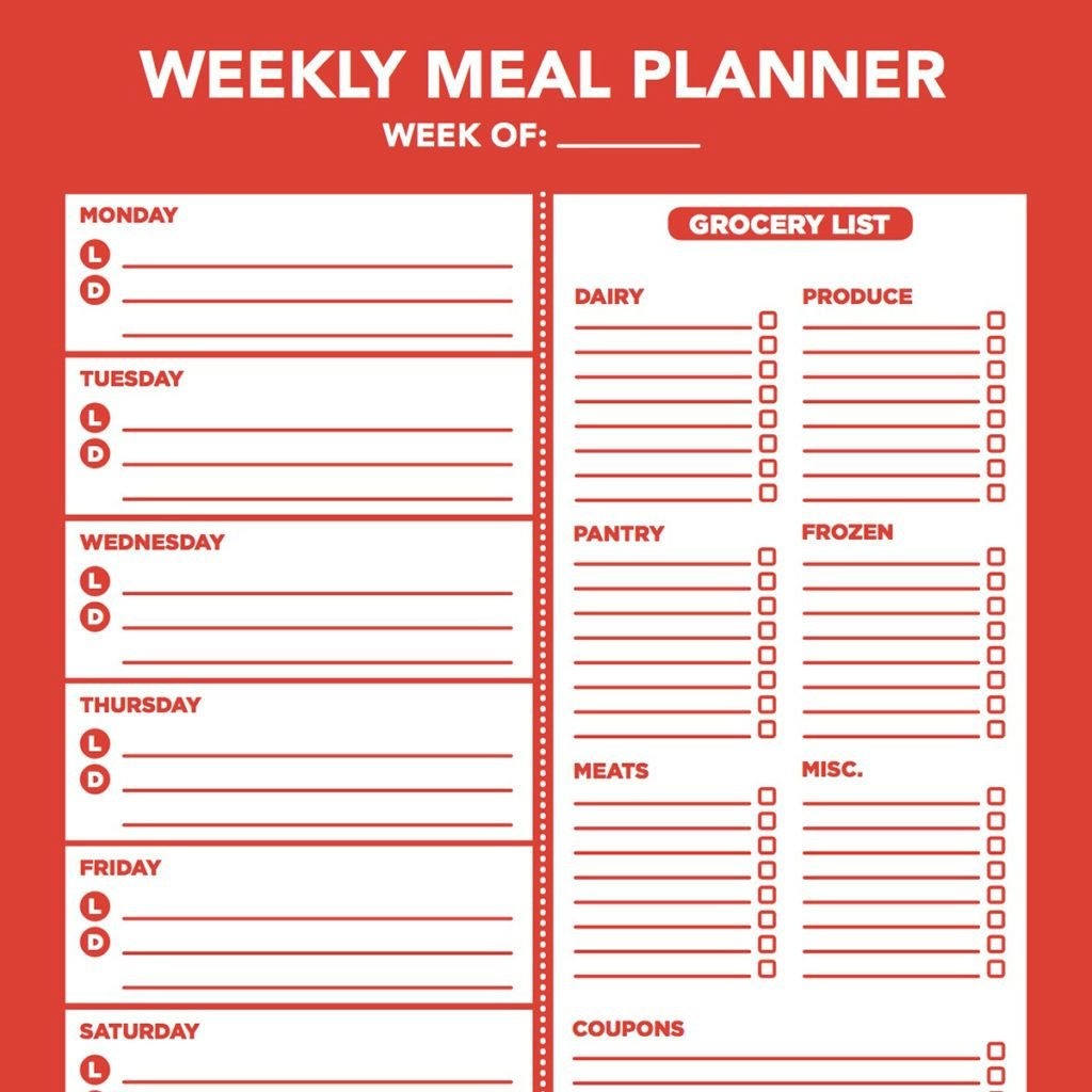 photograph regarding Printable Meal Planner titled 10 Products and solutions That Produce Supper Designing Uncomplicated Style of Household