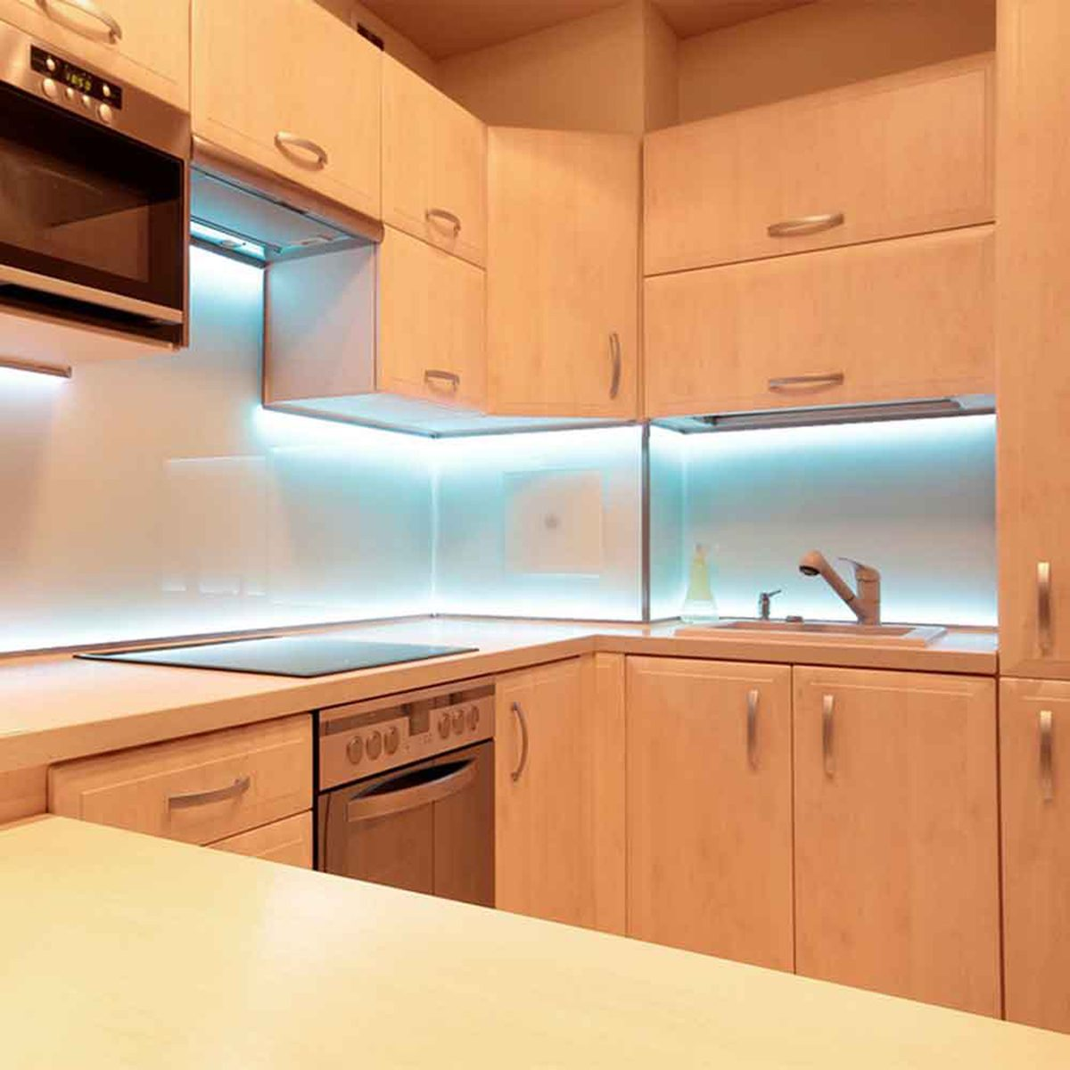Kitchen with under the cabinet lighting