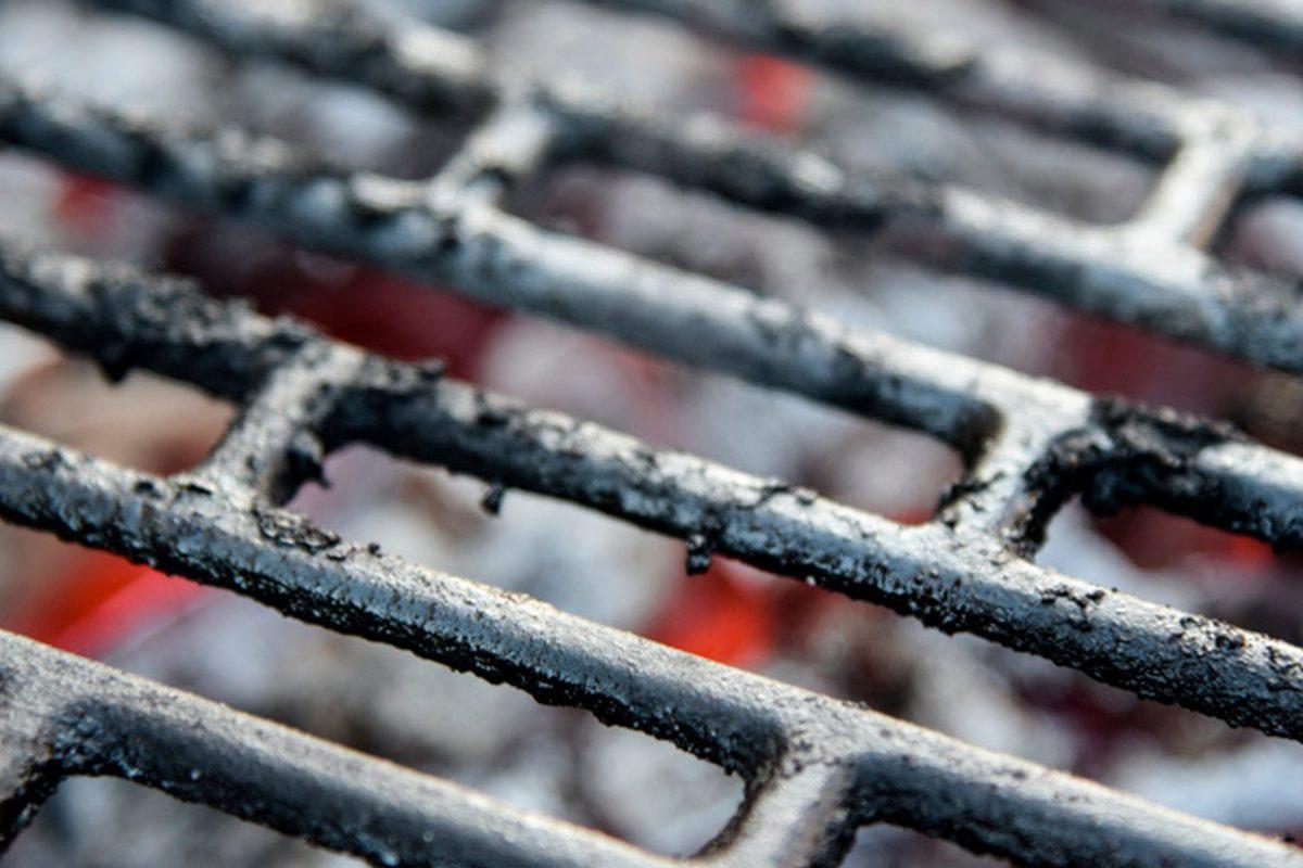 Grill grates over coals