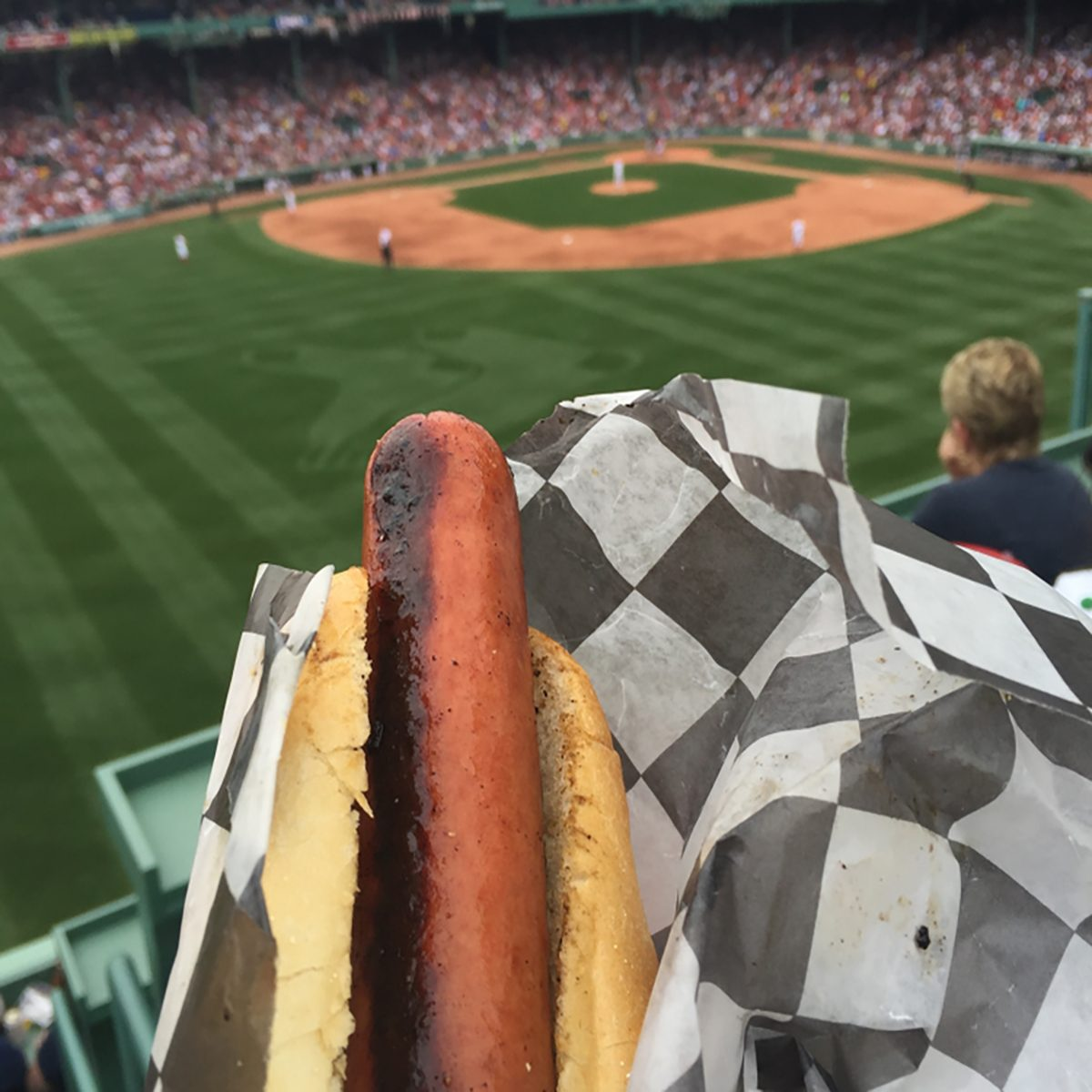 Hot dog at baseball park