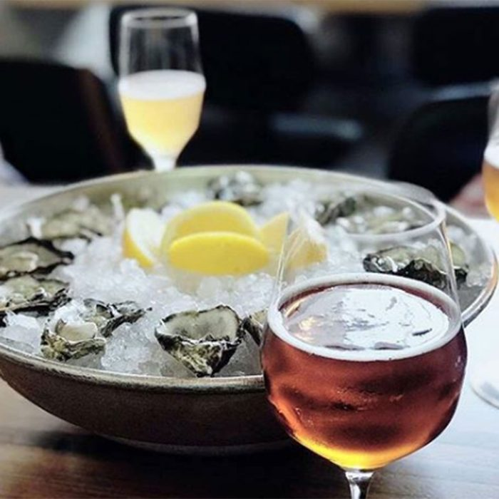Oysters and drinks at Moody Tongue