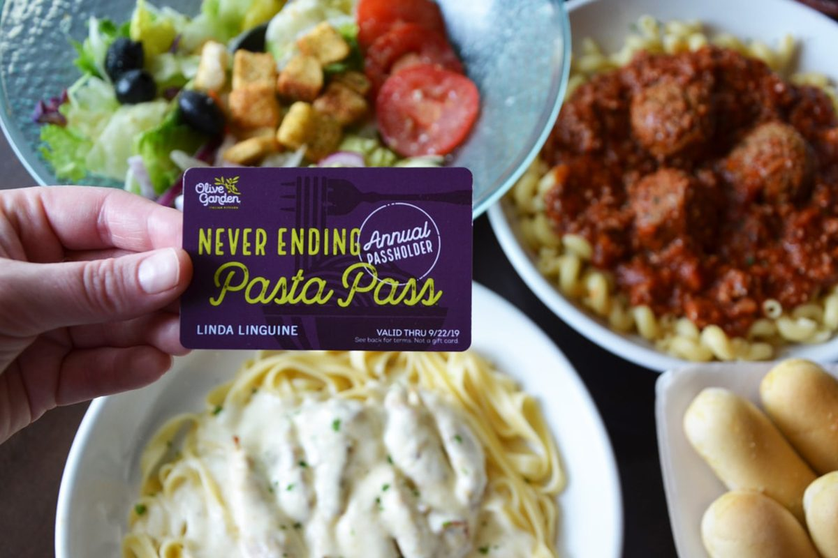 Olive garden to sell annual passes for unlimited pasta for - What time does the olive garden close ...