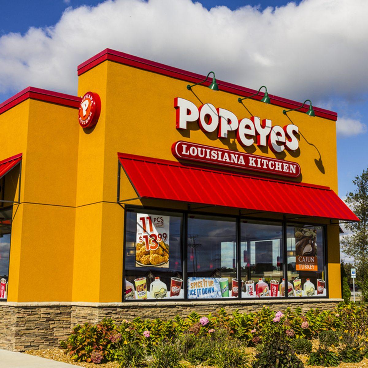 Popeyes Louisiana Kitchen Fast Food Restaurant.